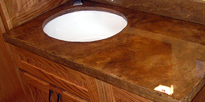 Granicrete Custom Countertops from Counters Floors and More - Duane Gilbertson - Fountain, Minnesota